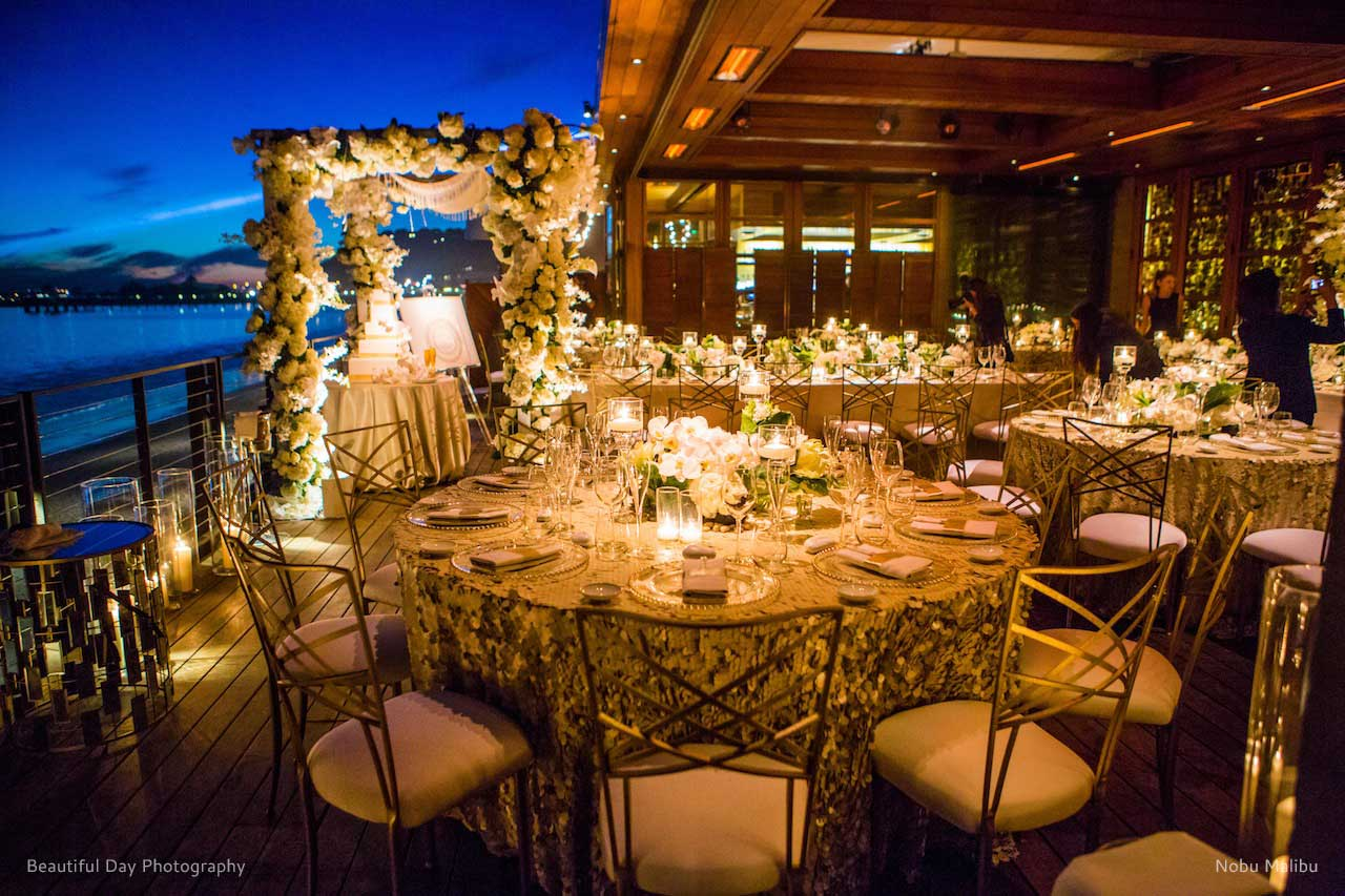 nobu malibu the lighter side special event lighting