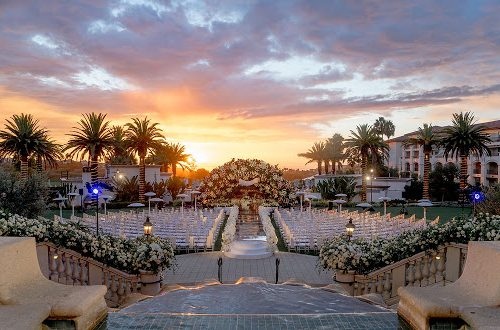 Phillip + Paulina's Electric Outdoor Wedding Lights Up Monarch Beach Resort