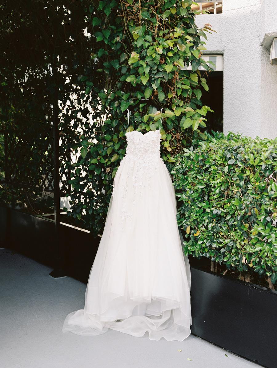 bride's wedding dress in los angeles