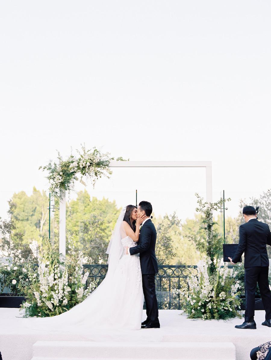 newlyweds first kiss