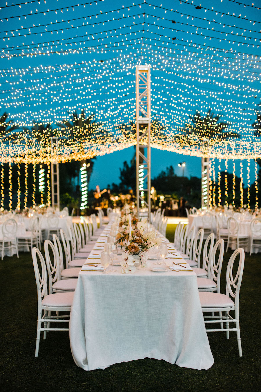 beautiful curtain string lights at indian wells golf resort