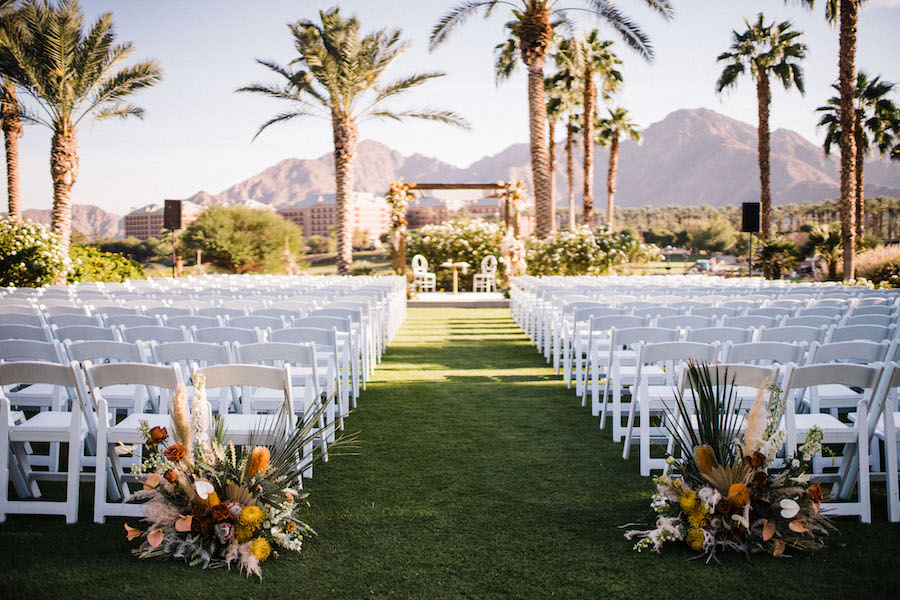 wedding ceremony seating on indian wells golf resort