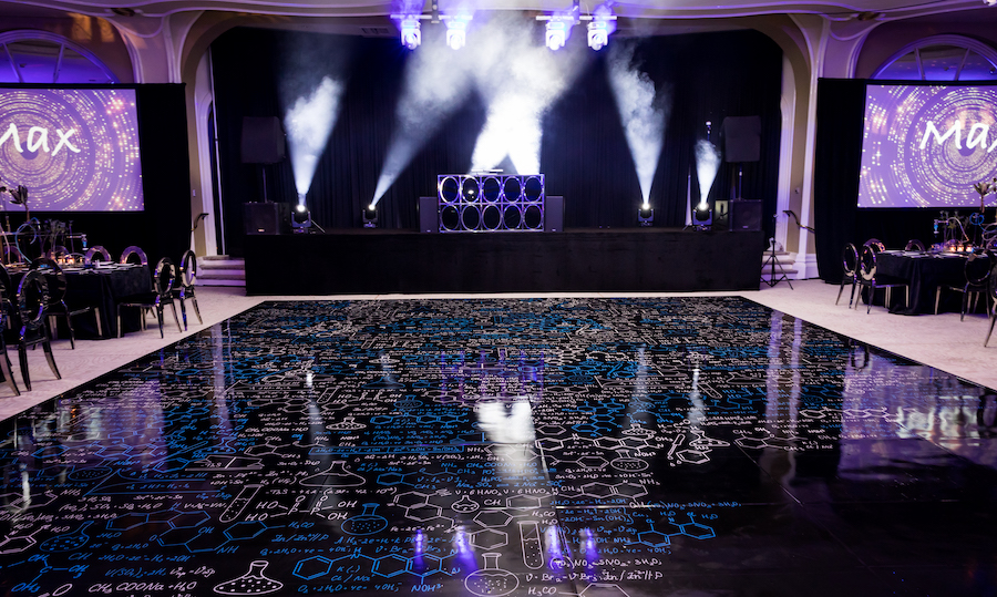 ballroom floor with fog lights