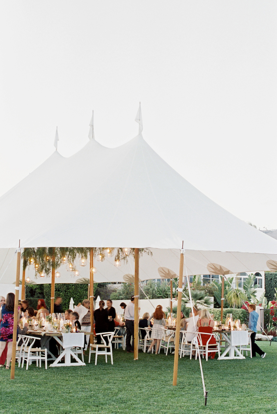outdoor tented wedding in california